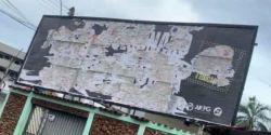Outdoors com críticas a Bolsonaro são vandalizados menos de 24h após instalação