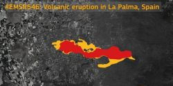 O avanço da lava do vulcão nas Ilhas Canárias em imagens de satélite